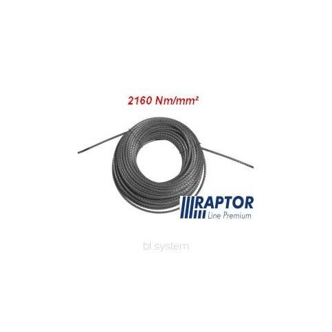 Lina RAPTOR 12mm/100m - 2160Nm/mm2 podwójnie walcowana (kowarkowana) pełnostalowa