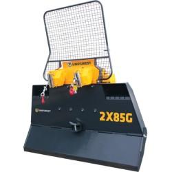 Wciągarka elektrohydrauliczna dwubębnowa 2x85G (2,10m) z łamaną płytą