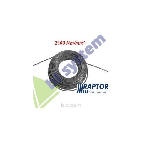 Lina RAPTOR 11mm/50m - 2160Nm/mm2 podwójnie walcowana (kowarkowana) pełnostalowa