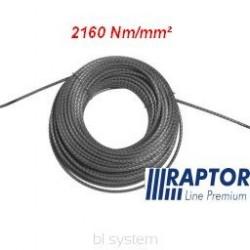 Lina RAPTOR 12mm/50m - 2160Nm/mm2 podwójnie walcowana (kowarkowana) pełnostalowa